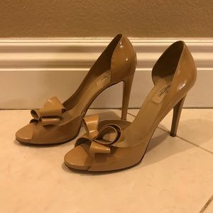 Valentino patent leather bow heels